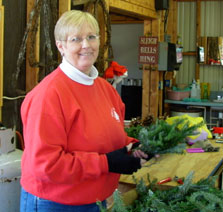 Judy at Wright's Tree Farm
